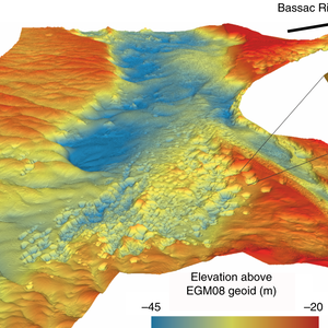 Bathymetry of the Mekong river